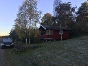 Vi boede i en hytte 3 dage
